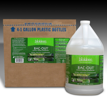 Bac-Out Stain and Odor Eliminator, 1 Gallon Bottles (Case of 4) from Biokleen