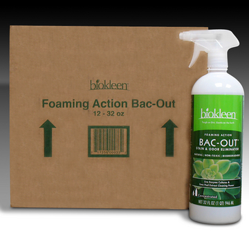 Bac-out Foaming Action Stain Remover (Case of Twelve 32 oz. Bottles) from Biokleen
