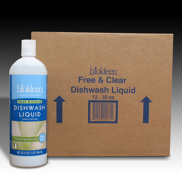 Free and Clear Dishwashing Liquid, 32 oz. Bottles (Case of 12) from Biokleen