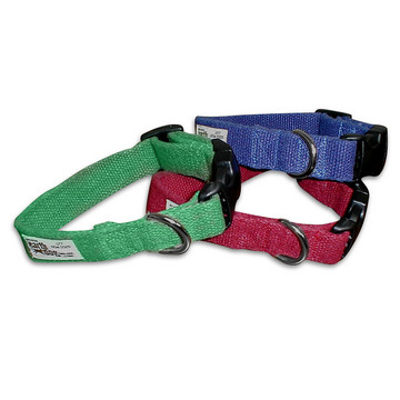 Small Solid Color Hemp Dog Collar from Earthdog