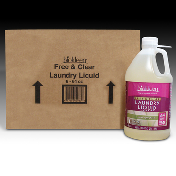 Free and Clear Laundry Liquid, 64 oz. Bottles (Case of 6) from Biokleen