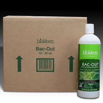 Bac-Out Stain & Odor Eliminator, 32oz. Bottles (Case of 12) from Biokleen
