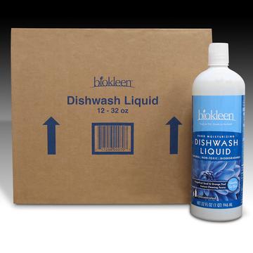 Hand Dishwashing Liquid, 32 oz. Bottles, (Case of 12) from Biokleen